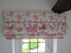patch worked cath kidston bedroom gingham and flowered window blind by Midsummer Stitches