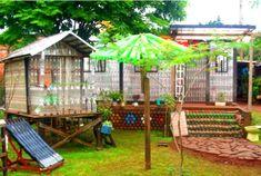 La casa ecologica realizzata con bottiglie riciclate