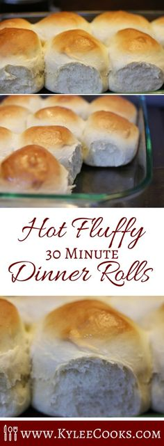 What do you do when you need dinner rolls soon, and want them to be homemade, AND you need them asap? MAKE THIS RECIPE and pull hot, fluffy rolls out of the oven in about 30 minutes.