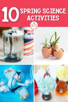 Take learning outside this spring with these spring science activities. Ten activities that your little learners will love and it's all about science! From weather experiments to planting flowers in egg shells, your learners will love each one! #kindergarten #science #kindergartenscience #spring Preschool Science, Elementary Science, Science For Kids, Preschool Lessons, Easy Science Experiments, Science Lessons, Weather Experiments, Science Tools, Spring Activities