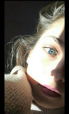 Blue eyes and sunlight
