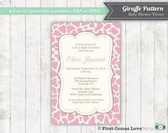 Digital Baby Shower Invitation  Giraffe by FirstComesLovePrints, $12.00