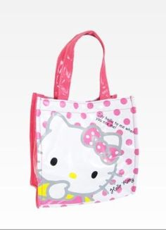 Hello Kitty Tote Bag: Pink Dot