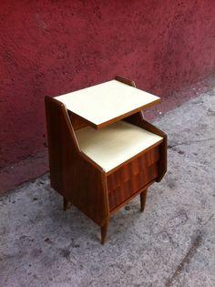 Buro de noche, night table , vintage , furniture, muebles nordicos , decada polanco