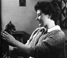 Young Doris Lessing and her kitty, her Nobel prize winning kitty.