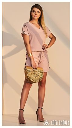 Cute Summer Outfits, New Outfits, Casual Outfits, Fashion Outfits, Fashion Trends, Color Combinations For Clothes, Moda Vintage, Chor, Short Tops