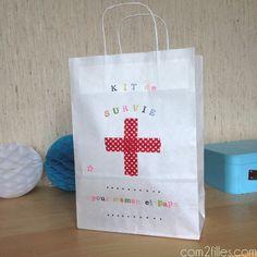 Envie d'offrir un cadeau à de jeunes parents ? Confectionnez-leur un kit de survie !! Entre douceurs et traits d'humour, un présent fait main original !