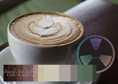 Color Inspiration - Latte, color wheel, color palette