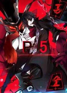 Artist: Pixiv Id 4196230   Shin Megami Tensei: Persona 5   Arsène   Protagonist   Joker    Kurusu Akira