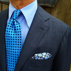 "Ricky Carlo wearing a Viola Milano ""Blue Sky"" silk tie… 