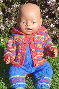 Bailey-KNITTING-PATTERN-BOOKLET-for-making-Baby-Born-Doll-Clothes-Winter-Outfit
