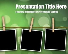 Peg Bokeh PowerPoint Template