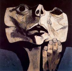 La muerte del Che nº 1. 1977. Óleo sobre tela. 122 x 122 cm. La Edad de la Ira. Colección Fundación Guayasamín. Quito. Ecuador