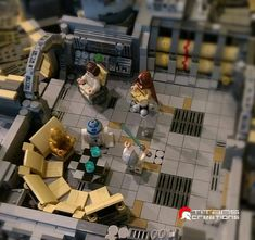 minifigs into the giant millennium falcon