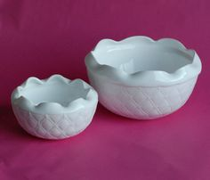 Milk Glass Vintage Bowl Vase with Diamond Pattern by OllyOxes  #WeddingTableTop #TableTop @Olly Olly Oxen Free