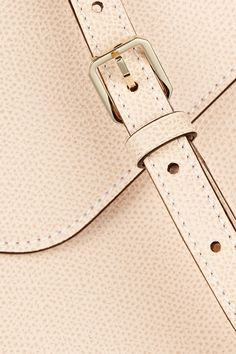 Blush textured-leather (Calf)  Push clasp fastening at front Designer color: Powder Pink