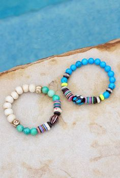 Festival Style Colorful Coachella Bracelets by HappyGoLuckyJewels
