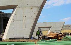 Lafayette Bridge construction in St. Paul