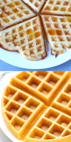 Easy Waffle Recipe, Waffle Recipes, Baking Recipes, Easy Belgian Waffle Recipe, Cheesy Recipes, Sweet Recipes, Easy Desserts, Dessert Recipes, Pancake