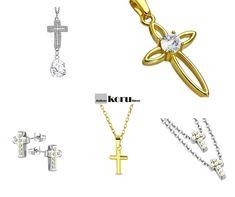 Sirot ja pienet rippiristit, terästä. #pienirippiristi #kullanvärinenristi #rippiristitytölle #rippiristipojalle Jewelry, Fashion, Moda, Jewlery, Jewerly, Fashion Styles, Schmuck, Jewels, Jewelery