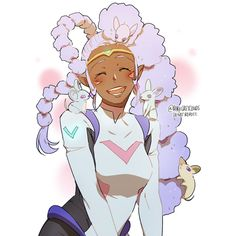 Princess Allura's cute and crazy hairstyle by Space Mice from Voltron Legendary Defender