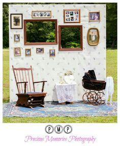 My photowall/photobooth our real family photos on the wall. DIY
