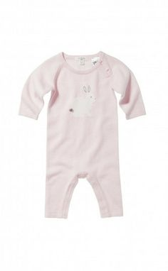 Knitted Growsuit - Powder Pink   Purebaby