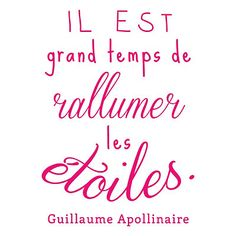 Sticker mural Etoiles fuchsia 45 x 60 cm Positive Mind, Positive Attitude, Best Quotes, Funny Quotes, Words Quotes, Sayings, Good Sentences, French Quotes, Great Words