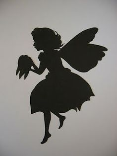 Cutest tooth fairy image silhouette.