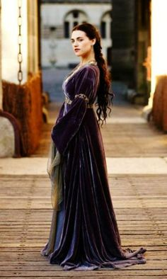 Merlin on the BBC. Morgana and her pretty dresses