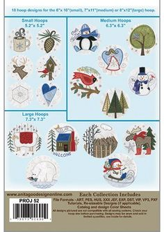 Amazon.com: Anita Goodesign Embroidery Designs Projects Winter Hoops