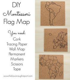 The Kavanaugh Report: DIY Montessori Flag Pin Map