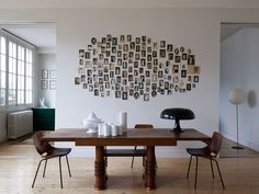 Forget the frames for a creative photo display.  Larroque, scandinavian,interiors,modern