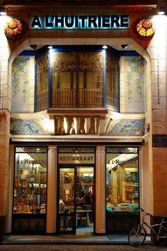 A L'Huitiere art deco restaurant Lille, France Lille France, France Art, Paris France, Deco France, Paris Paris, Restaurant Lille, Deco Restaurant, Seafood Restaurant, Michelin Star