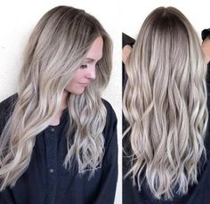 New Hair Color Flamboyage Ash Blonde Roots 51 Ideas – new hair – ombre Beige Blonde Hair, Champagne Blonde Hair, Ash Blonde Hair Balayage, Blonde Roots, New Hair Colors, Hair Colour, Gorgeous Hair, Hair Hacks, Dyed Hair