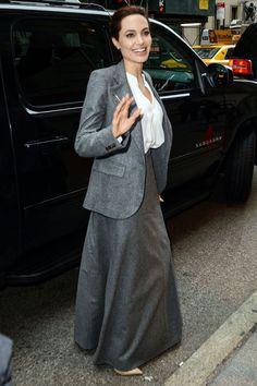 Jolie arriving at the Unbroken screening in New York.