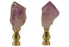 Amethyst  Crystal   Point Finials, Pair on OneKingsLane.com