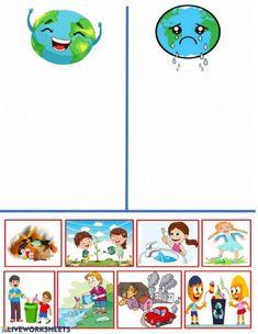 Fall Preschool, Kindergarten Science, Preschool Learning Activities, Preschool Worksheets, Preschool Activities, Activities For Kids, Crafts For Kids, Earth Day Worksheets, Earth Day Activities
