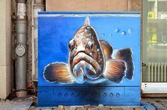 fish box 2 - graffiti fine art | Friedrich (BEN-TEN) Benzler Graffitti, Tattoo and Art
