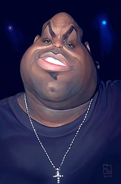 caricature Ceelo Green (b. 1975 May 30, 37 in 2012)