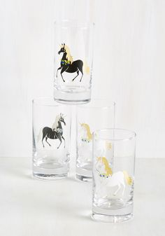 The Neighs Have It Glass Set
