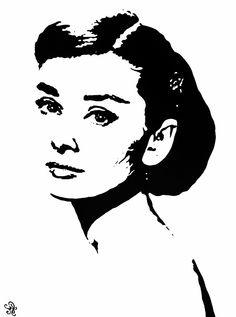 Pop Art Painting People Audrey Hepburn 66 New Ideas Group Art Projects, Easy Art Projects, Face Stencils, Stencil Art, Audrey Hepburn Painting, Kids Canvas Art, Painting People, Painting Art, Bullet Art