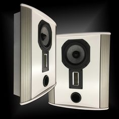 """The Legacy Pixel on-wall surround in white satin finish. A compact version of the Legacy Silhouette, Pixel is a 2-way speaker that is excellent for stereo & home theater surround channels. Featuring a 4"""" high velocity AMT, 7"""" Silver/Graphite cast frame midrange with an acoustically coupled port."""