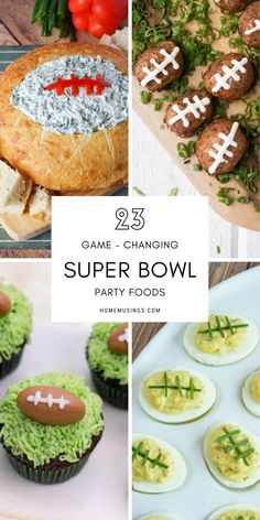 Try out these delicious and creative football-inspired appetizers! Your guests will definitely appreciate the extra football flair. Super Bowl Finger Foods, Holiday Recipes, Great Recipes, Retro Bar Stools, Super Bowl Sunday, Food To Make, Food Ideas, Brunch, Appetizers