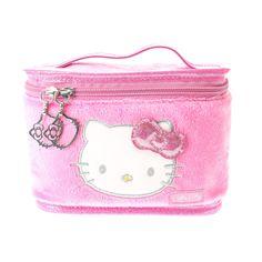 Hello Kitty Plush Travel Cosmetics Case