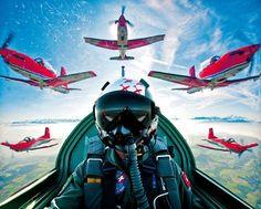 Swiss Air Force Pilatus PC-7 display team.
