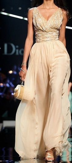 Christian Dior.  Gold is really in this season. Not a colour I've favoured in the past because of my pale skin, but I'm being swerved by creations like this! J'adore Dior!  - Helen   #dior #fashion #gold