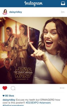 Daisy Ridley- she was great and I can't wait to see her in more work