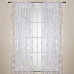 Nantucket Sheer Rod Pocket Window Curtain Panels - BedBathandBeyond.com