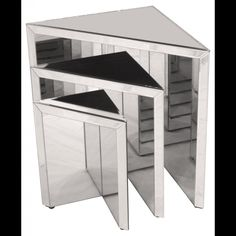 Prism Mirrored Nest of Tables - from House of Isabella UK